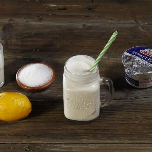 Milkshake with yoghurt